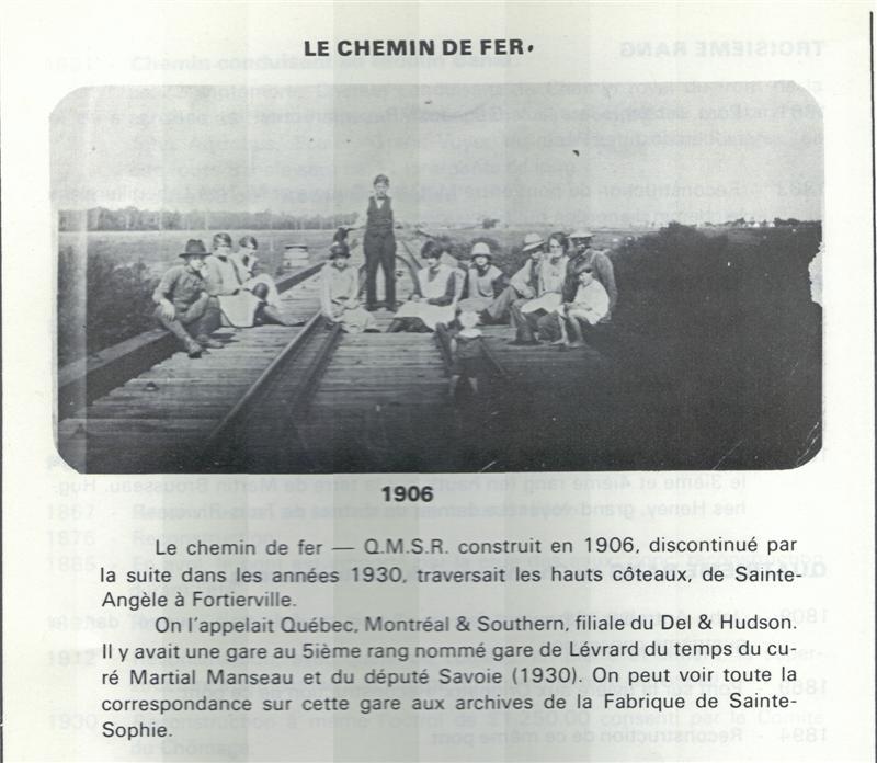 Les chemins de fer dans la seigneurie Lévrard-Becquet